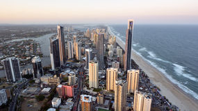 Surfers Paradise Skyline -Queensland Australia Stock Image