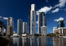 Surfers paradise on sunny day royalty free stock image