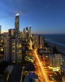 Surfers Paradise twilight Stock Photo