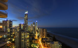 Surfers Paradise twilight Royalty Free Stock Image