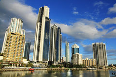 Surfers Paradise. View of the business district in Surfers Paradise, QLD Australia Stock Images