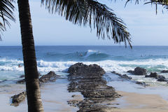 Surfers at Snapper Rocks Stock Photo