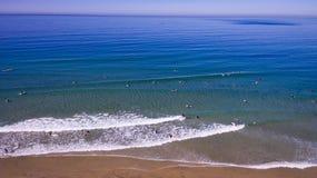 Surfers van hierboven Stock Foto