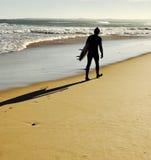 Surfersilhouet royalty-vrije stock foto's