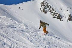 Surfeur dans les Alpes photo libre de droits