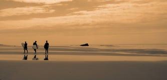 Surfeurs, Soulac Stock Images