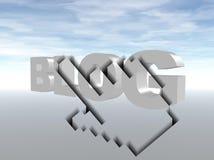 Surfez le blog Photo stock