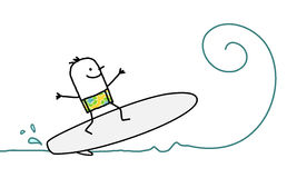 Surfez sur l'onde Photo stock
