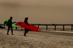 surfiarze Zdjęcia Stock