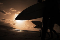 surfiarze sunset Fotografia Stock