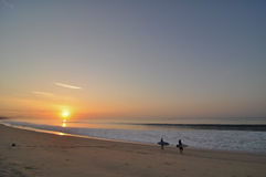 surfig восхода солнца cabo Стоковые Фотографии RF