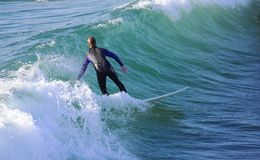Surfing. The wave (Californian coast Stock Photo