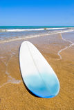 Surfing. Surfboard at the water's edge on a magnificent beach on The Capricorn Coast, Central Queensland, Australia stock photos