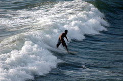 Surfing. Bali, Indonesia Royalty Free Stock Photo
