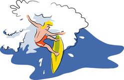 Surfing royalty free illustration