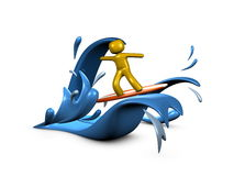Surfing. 3d image, conceptual surfing internet Royalty Free Stock Photography