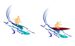 Surfing abstract Royalty Free Stock Photos