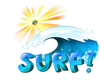 Surfing artwork Royalty Free Stock Photo