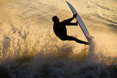 Free Surfing At Sunset Royalty Free Stock Photo - 612995