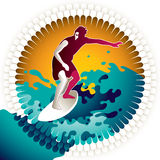 Surfing background. Stock Photos