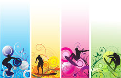 Surfing background Royalty Free Stock Images
