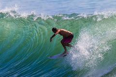 Surfing Backside Challenge Royalty Free Stock Photos