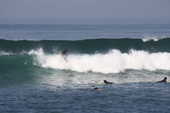 Surfing in Bali Indonesia Stock Photos