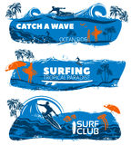 Surfing Banner Set Royalty Free Stock Photo