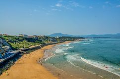 Surfing beach in Biarritz. Stock Image