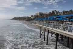 Surfing beach California Stock Photo