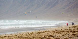 Surfing beach La Caleta Stock Image