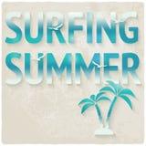 Surfing beach summer background Stock Photo