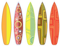 Surfing Boards Set Royalty Free Stock Photos