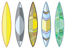 Surfing Boards Set Stock Images
