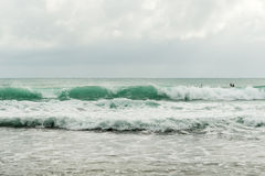 Surfing in Bocas del Toro in Panama Stock Photography