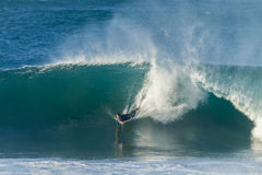Surfing Bodyboarding Waves Royalty Free Stock Photo