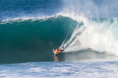 Surfing Bodyboarding Waves Stock Photos