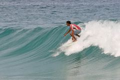 Surfing Clean Waves Royalty Free Stock Photography
