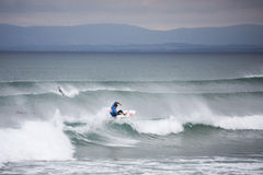 Surfing competition. Geroid McDaid (Sligo) Stock Image