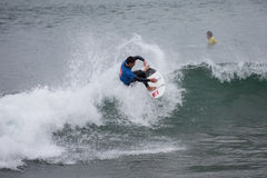 Surfing competition. Geroid McDaid (Sligo) Stock Photo