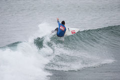Surfing competition. Geroid McDaid (Sligo) Royalty Free Stock Photography