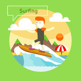 Surfing concept Stock Images