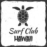 Surfing concept for shirt or logo, print, stamp. Royalty Free Stock Photo