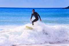 Surfing in cornwall very popular now Stock Photo