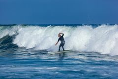 Surfing in Deal New Jersey Stock Image