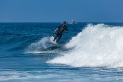 Surfing in Deal New Jersey Stock Photography