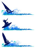 Surfing design elements Stock Photo