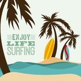 Surfing design Royalty Free Stock Photo
