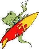 surfing dinozaura Zdjęcia Stock