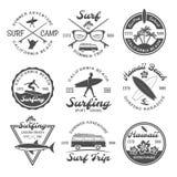 Surfing Emblem Set Stock Image